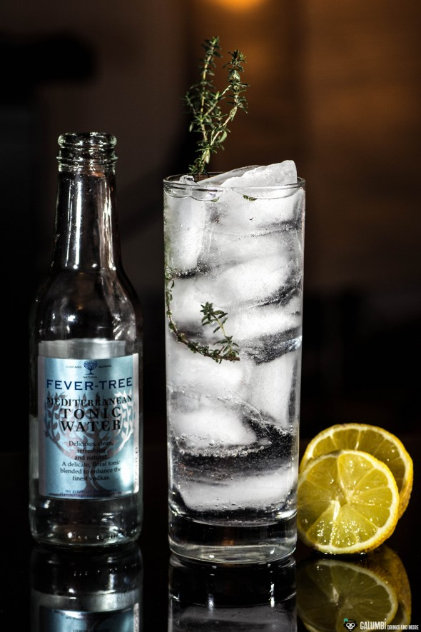 Gin and Fever Tree Mediterranean Tonic