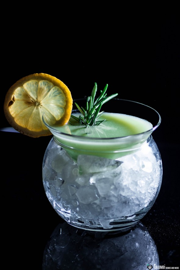 Rosemary Lemon Curd Martini