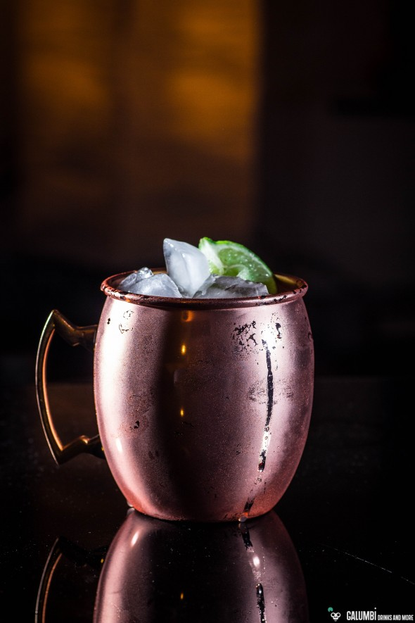 Moscow Mule in a copper mug