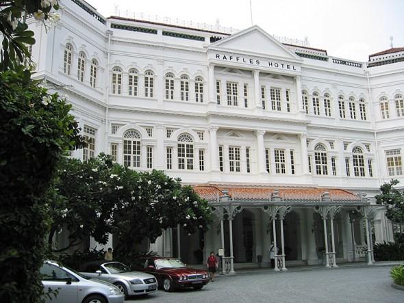 Das Raffles Hotel in Singapur