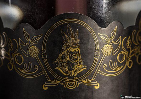 Der Inka auf der Flasche gibt ein schönes Emblem ab.